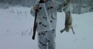 Зимняя охота на зайца