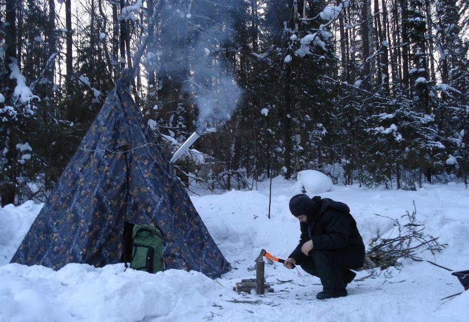 Охотничий топор незаменим для выживания в лесу