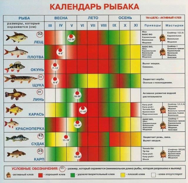 Календарь рыбака