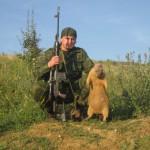 Охотник с крупным сурком