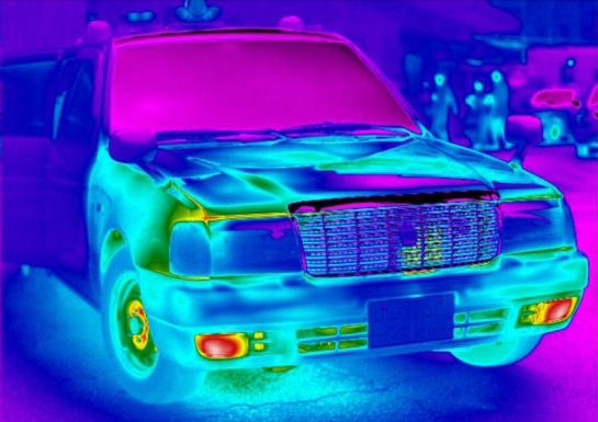 Принцип работы тепловизора на примере автомобиля
