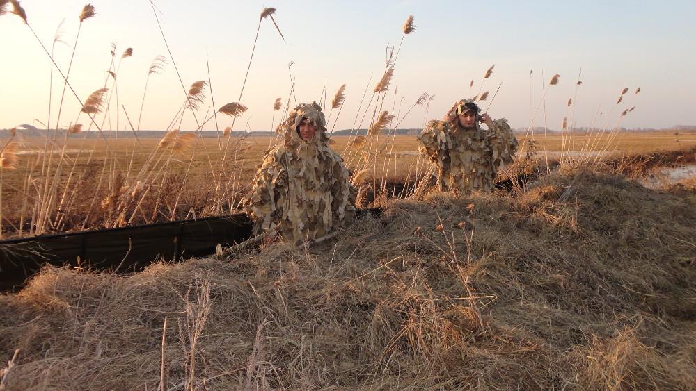 Маскировочные костюмы для осенней охоты