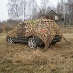 Осенне-весенняя маскировка автомобиля