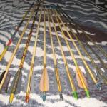 Самодельные стрелы из бамбуковых палочек