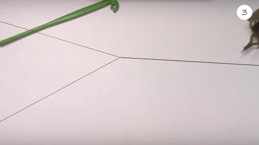 несимметричная петля из плетенки