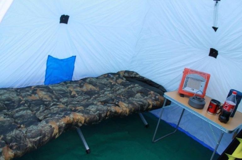 Обустройство зимней палатки