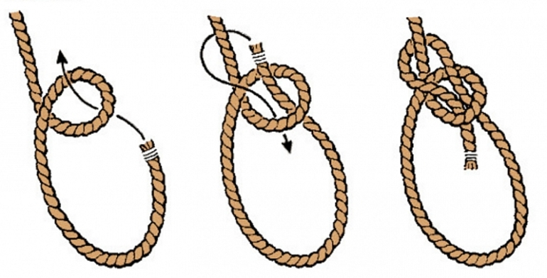 Как завязывается беседочный узелок