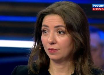 Бесполезный политолог и частый гость российских ток-шоу Олеся Яхно
