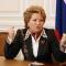 Матвиенко не смогла вытерпеть высказывания Жириновского