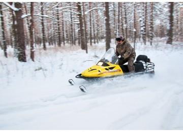 Охота на косулю на снегоходах