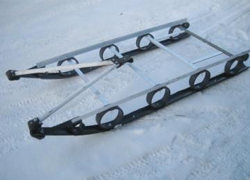 Самодельные сани для снегохода из пластиковых труб