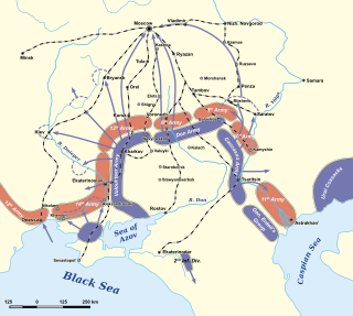 наступление деникина на москву