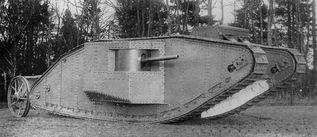 танки в войне были применены впервые