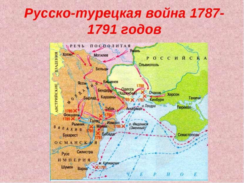какое требование выдвинула турция в 1787 году