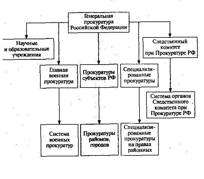 органы прокуратуры входят в систему органов