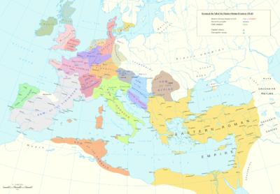 как пала римская империя кратко