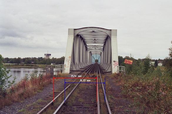 ширина рельсовой колеи в россии