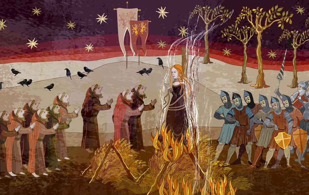 сжигание ведьм на костре