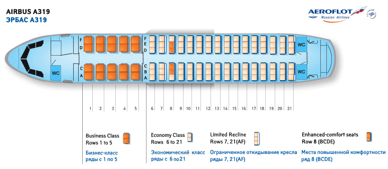 airbus a320 салон