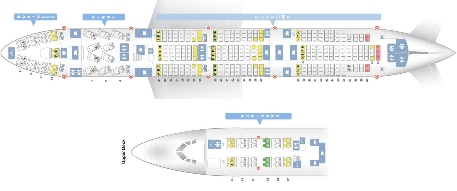 боинг 747 схема