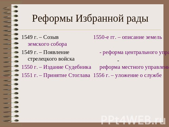 военная реформа 1556