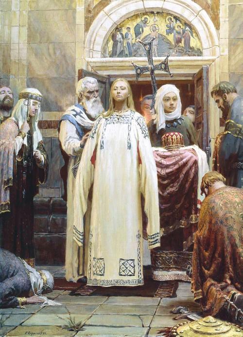 княгиня ольга крещение
