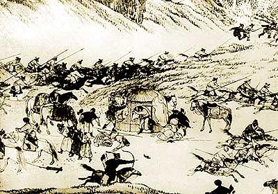 одно из сражений казахско джунгарских войн