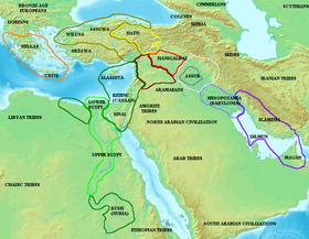 ассирия на карте древнего мира