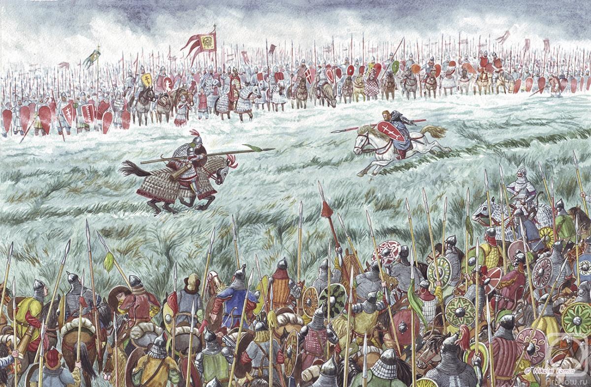 описание картины куликовская битва