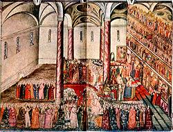 избрание михаила романова царем на земском соборе