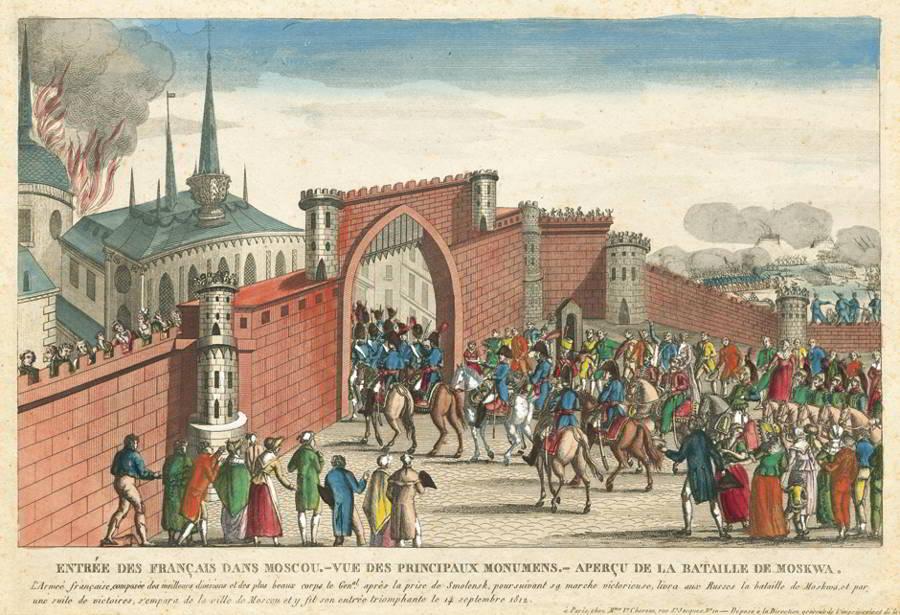 пребывание французов в москве месяцы