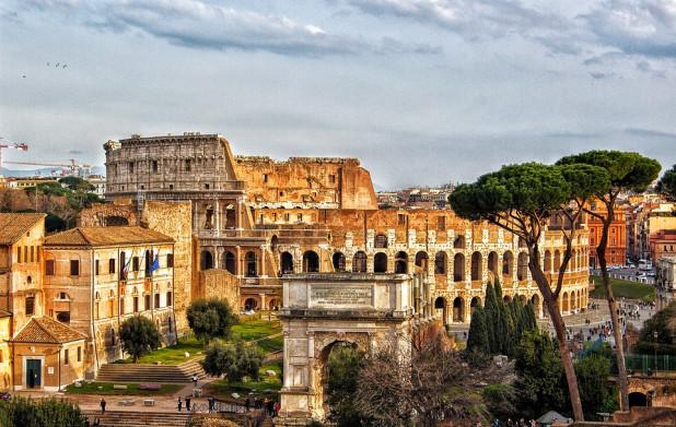 где находится древний рим на карте