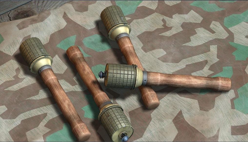 немецкая граната с деревянной ручкой