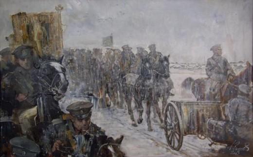 ледяной поход белой армии