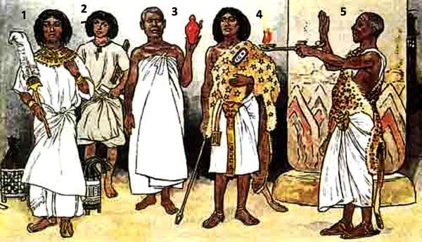 что носили египтяне в древнем египте