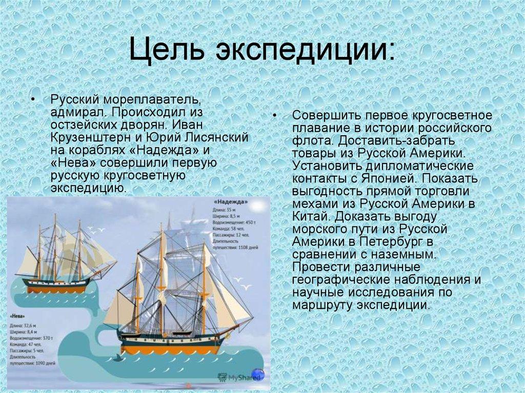 первая российская кругосветная экспедиция