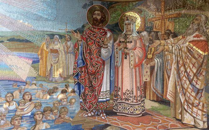 владимир принял крещение в городе