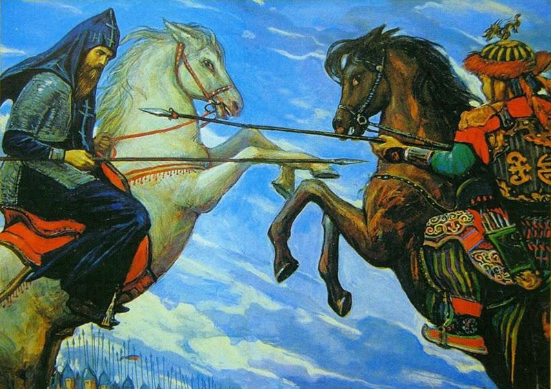 битва пересвета с челубеем картина