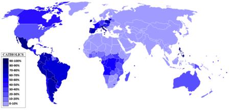 районы распространения христианства