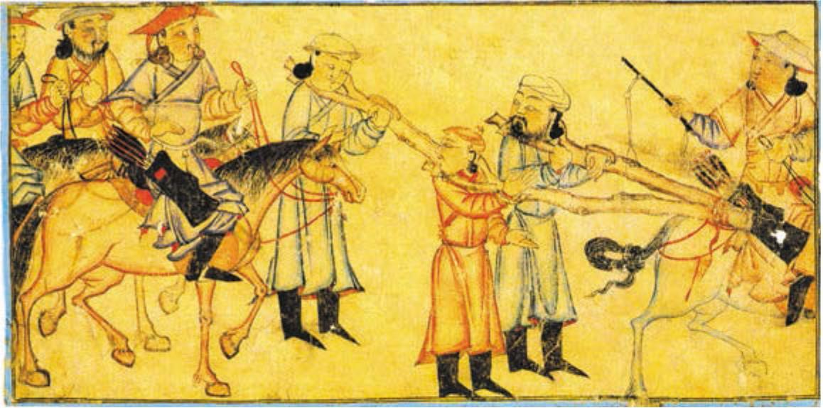 походы хана батыя на русь карта