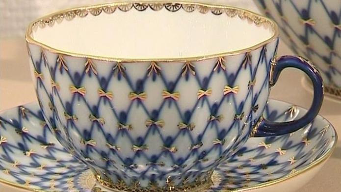 кобальтовая сетка императорский фарфоровый