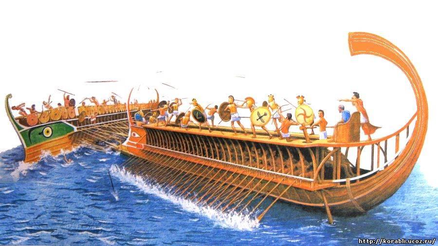 античный корабль