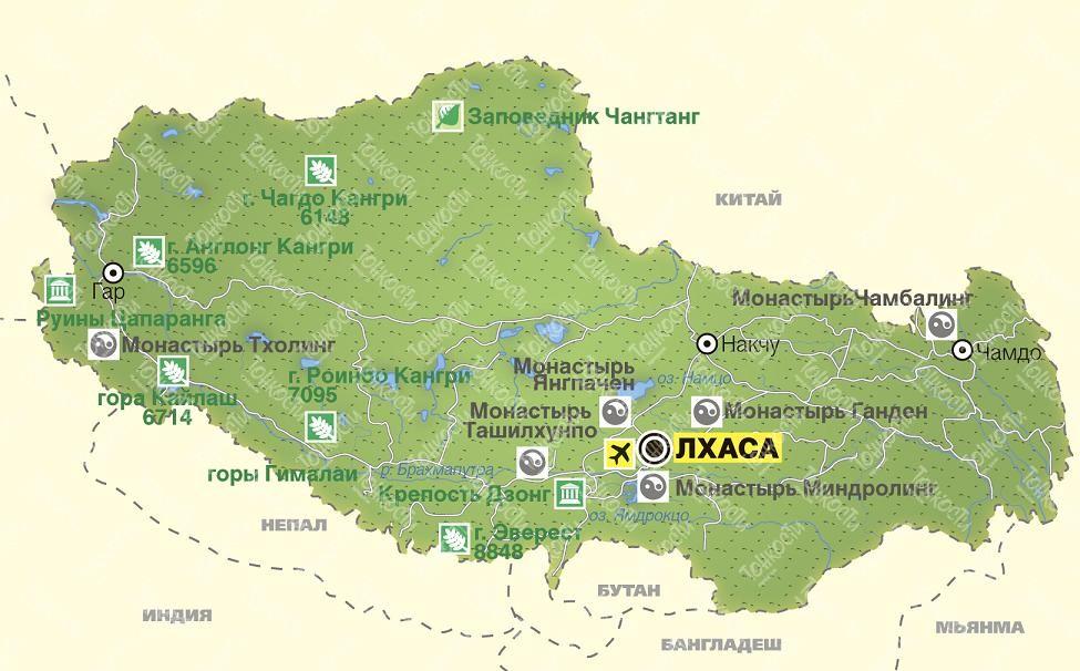 в какой стране находится тибет