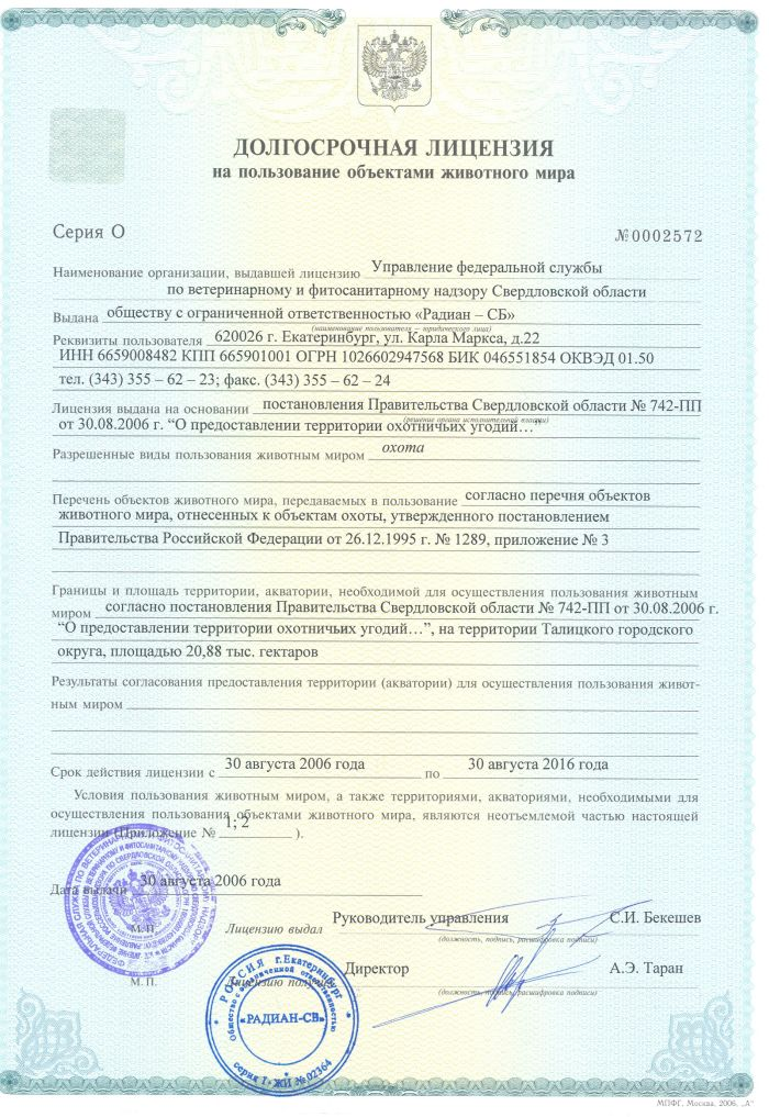 Долгосрочная лицензия для юридических лиц