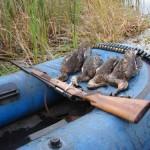 Охота с резиновой лодкой