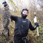 Пушистый трофей подводной охоты