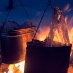 Топим лед для готовки и чая - романтика
