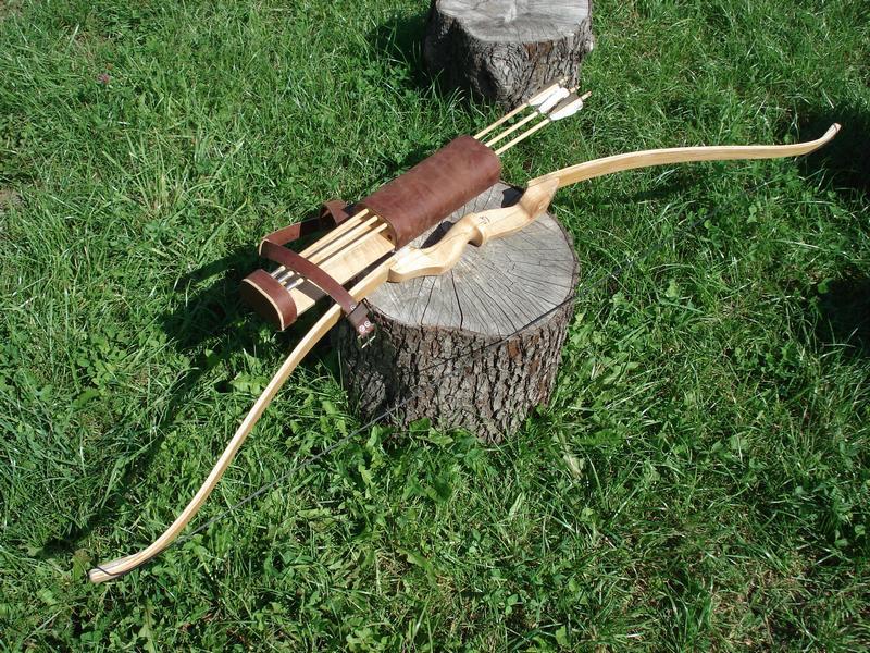 самодельный лук и стрелы