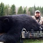 Охотник, блочный лук VilingStore и медведь