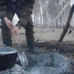 подготовка ямы для обжига
